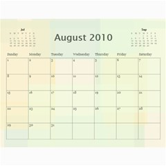 Family Calendar By Kelsey   Wall Calendar 11  X 8 5  (12 Months)   9q86itnjsnrv   Www Artscow Com Aug 2010