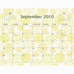 Family Calendar By Kelsey   Wall Calendar 11  X 8 5  (12 Months)   9q86itnjsnrv   Www Artscow Com Sep 2010