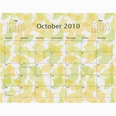 Family Calendar By Kelsey   Wall Calendar 11  X 8 5  (12 Months)   9q86itnjsnrv   Www Artscow Com Oct 2010