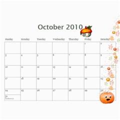 Yumi s Calendar By Cunyeu   Wall Calendar 11  X 8 5  (12 Months)   2gqru8jswrce   Www Artscow Com Oct 2010