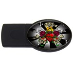 Oval-Black-Mind_-Body-and-Soul-Tattoo-Belt-Buckle USB Flash Drive Oval (2 GB)