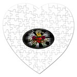 Oval-Black-Mind_-Body-and-Soul-Tattoo-Belt-Buckle Jigsaw Puzzle (Heart)