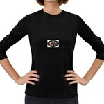 Oval-Black-Mind_-Body-and-Soul-Tattoo-Belt-Buckle Women s Long Sleeve Dark T-Shirt