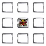Oval-Black-Mind_-Body-and-Soul-Tattoo-Belt-Buckle Mega Link Italian Charm (9 pack)