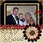 wedding sb 2 - ScrapBook Page 8  x 8
