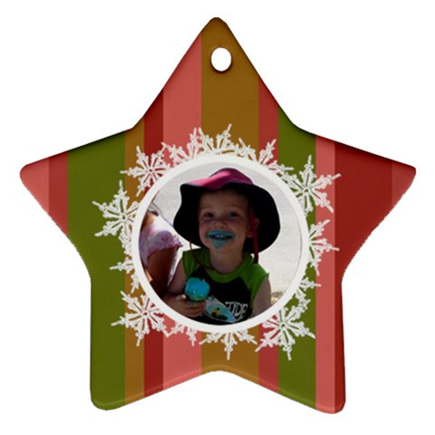 Landon Star Ornament By Klh   Ornament (star)   Vlhaoofzax9q   Www Artscow Com Front
