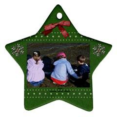 Ornament 1 By Lynne   Star Ornament (two Sides)   4u1ax5o7kxpg   Www Artscow Com Front