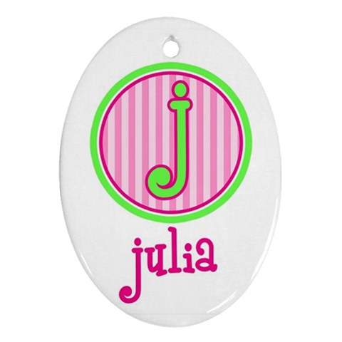 Custom Name Ornament By Heather   Ornament (oval)   5hhezykzjk74   Www Artscow Com Front