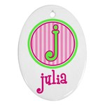 Custom Name Ornament - Ornament (Oval)