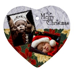 Ornament 1 By Carmensita   Heart Ornament (two Sides)   Bmlanhnkqdjd   Www Artscow Com Front