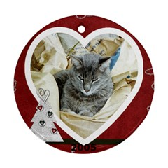 Ornament Barney & White Nose  09 By Lyn Clarke   Round Ornament (two Sides)   Y88q09jxmqx7   Www Artscow Com Back