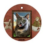 Ornament Dothead & Scaredy Cat - Round Ornament (Two Sides)