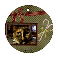 Ornament Dothead & Scaredy Cat By Lyn Clarke   Round Ornament (two Sides)   Xqpcfkl3qif7   Www Artscow Com Back