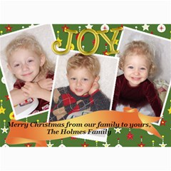 Christmas 2009 5x7 By Doddie   5  X 7  Photo Cards   Zix5fovgw7vr   Www Artscow Com 7 x5 Photo Card - 7