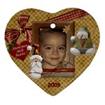 2009 Alex Ornament - Heart Ornament (Two Sides)