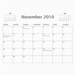 Holiday By Wood Johnson   Wall Calendar 11  X 8 5  (12 Months)   Pzg0rw1irj0r   Www Artscow Com Nov 2010