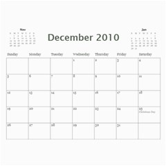 Holiday By Wood Johnson   Wall Calendar 11  X 8 5  (12 Months)   Pzg0rw1irj0r   Www Artscow Com Dec 2010