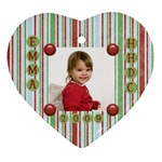 Ms. Barb Ornament - Heart Ornament (Two Sides)
