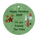 The Pinks 1 - Round Ornament (Two Sides)