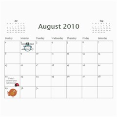 Momcalender By Blair Hill   Wall Calendar 11  X 8 5  (12 Months)   Hapaa89kbric   Www Artscow Com Aug 2010