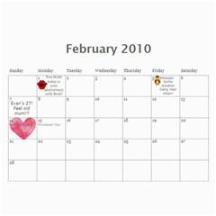 Momcalender By Blair Hill   Wall Calendar 11  X 8 5  (12 Months)   Hapaa89kbric   Www Artscow Com Feb 2010