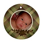 Family Ornament - Plaid and Pearls - Ornament (Round)