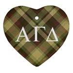 Alpha Gamma Delta Ornament - Ornament (Heart)