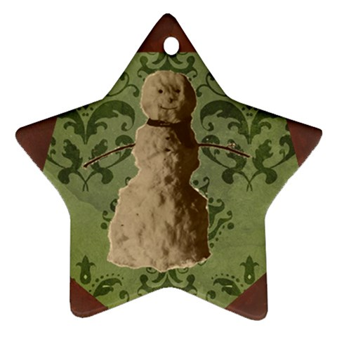 Star Snowman Ornament By Klh   Ornament (star)   E9jmmcvb1jl9   Www Artscow Com Front