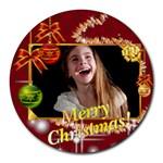christmas - Round Mousepad