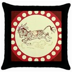 Leaping donkey Throw Pillow Case (Black)