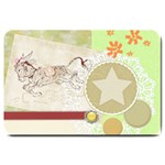 Leaping donkey Large Doormat