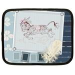 Leaping donkey Netbook Case (XL)