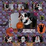 Maddie 12x12 Halloween  07 ScrapPage 2 - ScrapBook Page 12  x 12