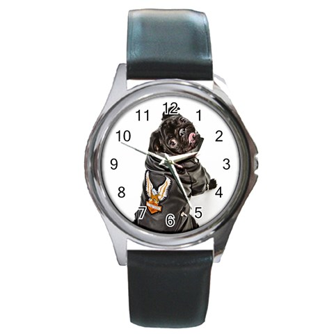 Rockys Watch By Chantel Reid Demeter   Round Metal Watch   93hyl3u7pgso   Www Artscow Com Front