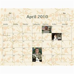Shokov Kalendar  By Tanya   Wall Calendar 11  X 8 5  (12 Months)   8zrm478nyepj   Www Artscow Com Apr 2010