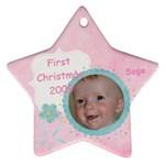 Sage 1st Christmas  - Ornament (Star)