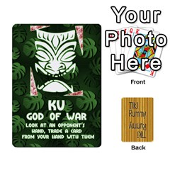 Tiki Rummy By Steve   Playing Cards 54 Designs   78c2gend14a3   Www Artscow Com Front - Spade4