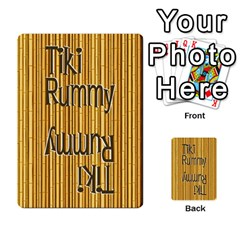 Tiki Rummy By Steve   Playing Cards 54 Designs   78c2gend14a3   Www Artscow Com Back