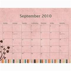 Grandma09 By Nicki   Wall Calendar 11  X 8 5  (18 Months)   Qygv4awcxtx7   Www Artscow Com Sep 2010