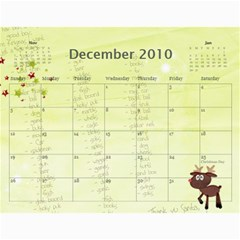 Grandma09 By Nicki   Wall Calendar 11  X 8 5  (18 Months)   Qygv4awcxtx7   Www Artscow Com Dec 2010