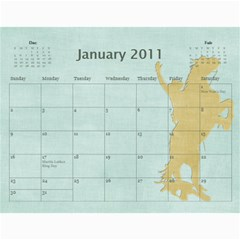 Grandma09 By Nicki   Wall Calendar 11  X 8 5  (18 Months)   Qygv4awcxtx7   Www Artscow Com Jan 2011
