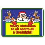 Merry Christmas GoatNight Large Doormat