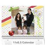 Календар на децата 3 - Wall Calendar 11  x 8.5  (12-Months)