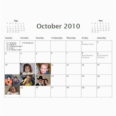 Bobby And Zaidy By Avigayil   Wall Calendar 11  X 8 5  (12 Months)   Yl1vcs3hv83v   Www Artscow Com Oct 2010