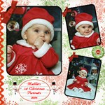 Maddie s 2006 Christmas Portraits 12x12 - ScrapBook Page 12  x 12