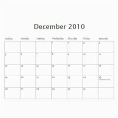 Family Calendar By Amy   Wall Calendar 11  X 8 5  (12 Months)   757j1ytrq4bl   Www Artscow Com Dec 2010