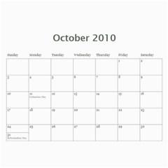 Bible Verse Wall Calendar 2010 By Iris Nelson   Wall Calendar 11  X 8 5  (12 Months)   Tvw8d63gs124   Www Artscow Com Oct 2010