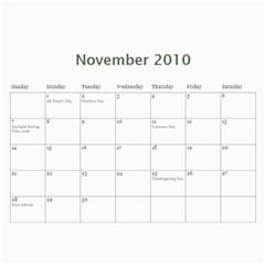 Bible Verse Wall Calendar 2010 By Iris Nelson   Wall Calendar 11  X 8 5  (12 Months)   Tvw8d63gs124   Www Artscow Com Nov 2010