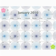 Mary s Calendar 2010 By Mary   Wall Calendar 11  X 8 5  (12 Months)   9akydngszmzz   Www Artscow Com Jan 2010