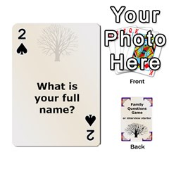 Family Question Card Game By Laurrie   Playing Cards 54 Designs   07o1lmsev80p   Www Artscow Com Front - Spade2